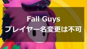 Fall Guys プレイヤー名変更不可